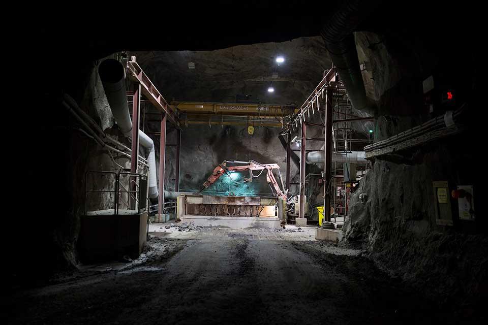 Industrifoto, bild från gruva